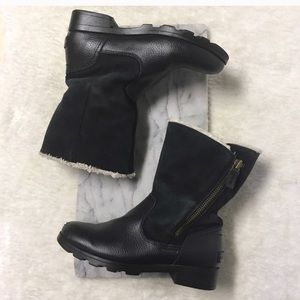 Sorel Leather Waterproof Ankle Boots Black 6
